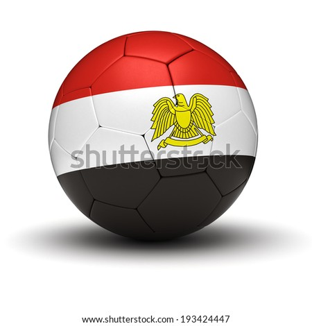 Egyptian Football (isolated with clipping path) - stock photo