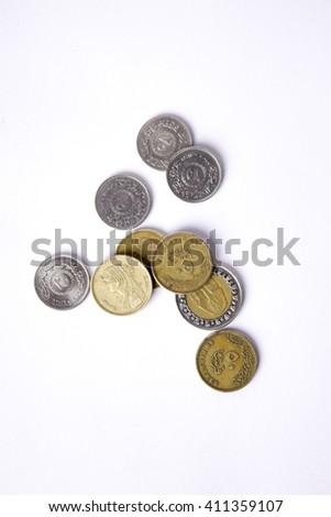 Egyptian Pounds Top View - stock photo