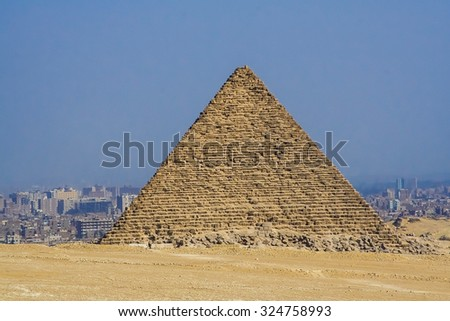 Egyptian pyramids, historical sites, ancient monuments of humanity, the pharaohs. Ruins of antiquity, travel and tourism. Archaeological excavations. The Protection Of UNESCO. Ancient civilization. - stock photo