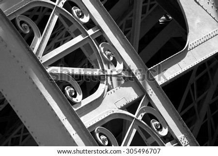Eiffel Tower Close Up - stock photo