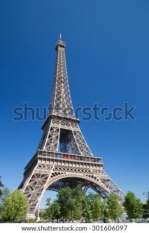 Eiffel Tower in Summer - stock photo