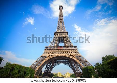 Eiffel tower Landmark of Paris, France - stock photo