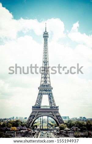 Eiffel tower - Paris  - stock photo
