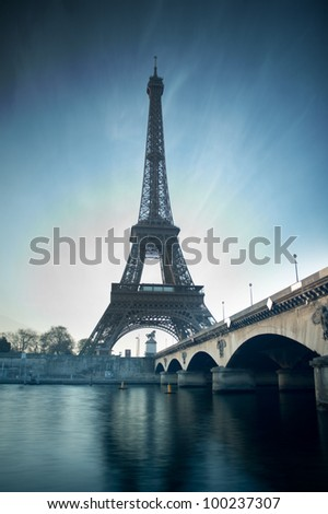 Eiffel tower - Paris - France - stock photo