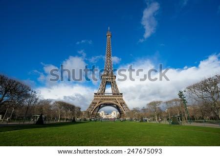Eiffel tower, Paris, France. - stock photo