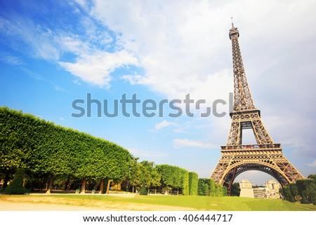 Eiffel Tower, symbol of Paris - stock photo