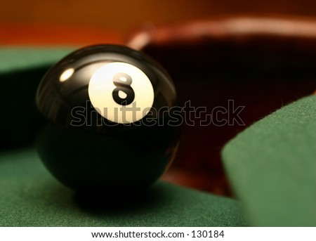 Eight Ball Corner Pocket - stock photo