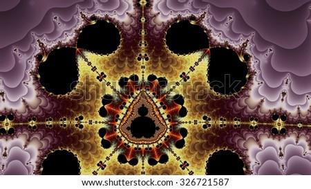 Eight Times Infinite Mandelbrot Fractal - stock photo