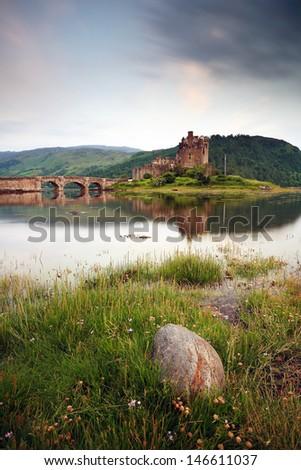 Eilean Donan Castle. - stock photo