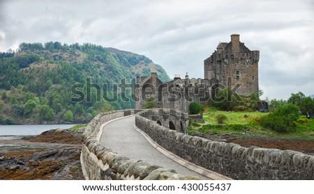 Eilean Donan Castle, Highlands, Scotland. UK - stock photo