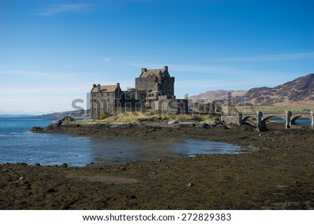 Eilean Donan Castle, scotland, Isle, of, skye - stock photo