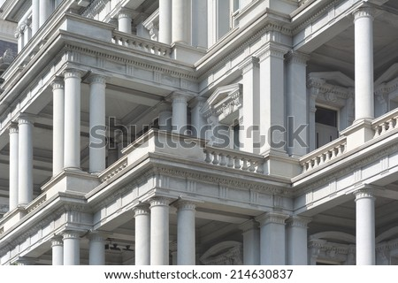 Eisenhower Executive Office Building in Washington with the Office of the Vice President - stock photo