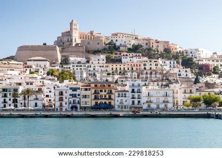 Eivissa - the capital of Ibiza, Spain - stock photo