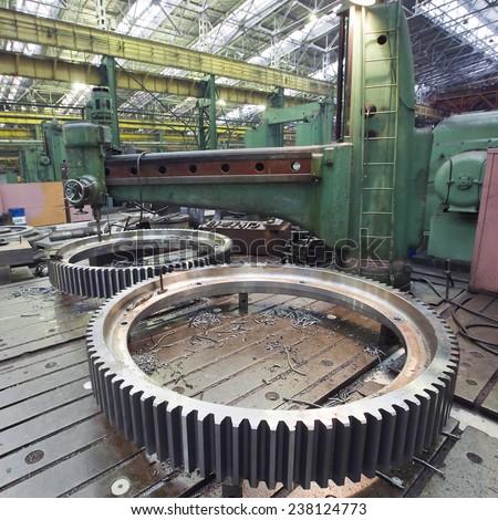 "Ekaterinburg, Russia - 01 February 2013: a sightseeing tour of the factory heavy engineering ""Uralmash"", interior shops, February 1, 2013 - stock photo"
