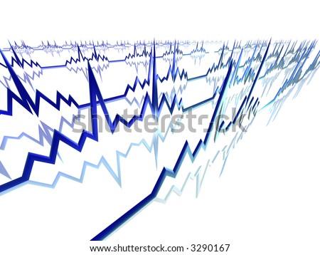 EKG Lines - stock photo