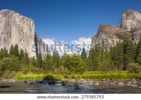 El capitan in Yosemite Valley - stock photo