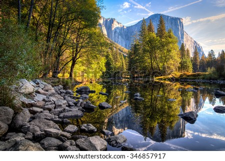 El Capitan Reflections, Yosemite National Park, California  - stock photo