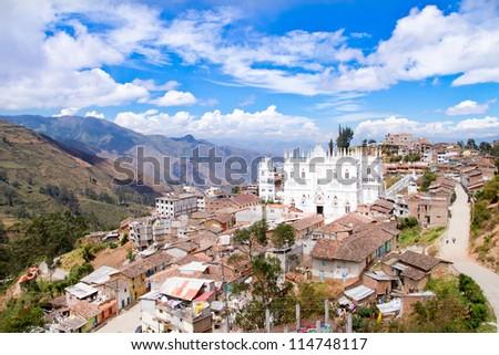 El Cisne Cathedral at Ecuador - stock photo