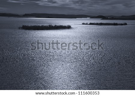 El-Mansour Eddabbi dam in Ouarzazate, Morocco. - stock photo