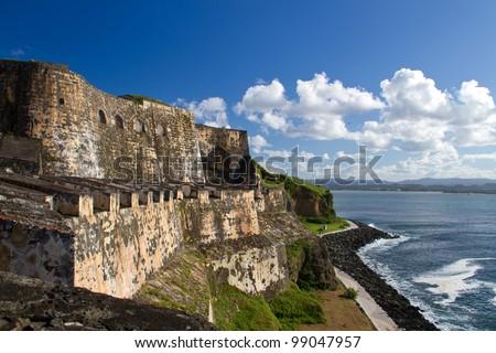 El Morro Castle, San Juan, Puerto Rico - stock photo