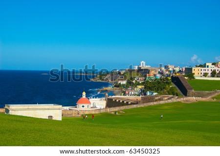 El Morro Fort San Juan Puerto Rico - stock photo