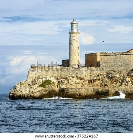 El Morro Fortress Lighthouse. Havana. Cuba. Travel - stock photo