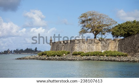 El Morro, the 16th century Spanish fortification in San Juan, Puerto Rico - stock photo