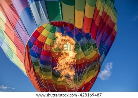 El Paso Balloon Festival, El Paso, Texas, America - 29 May 2016 - stock photo
