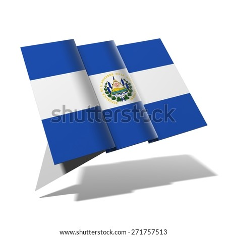 El Salvador flag 3D banner - stock photo