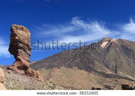 El Teide postcard - stock photo