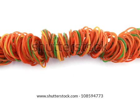 Elastic rubber for with background - stock photo