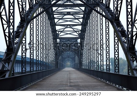 Elbe bridge - stock photo