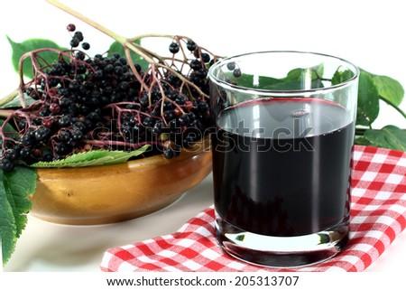 elderberry juice - stock photo