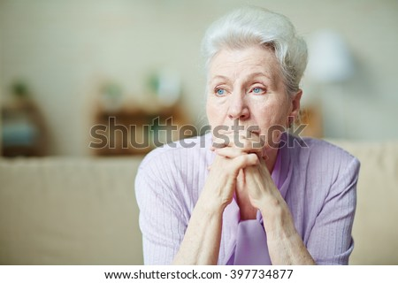 Elderly woman - stock photo