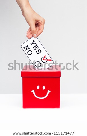 election and democracy concept - stock photo