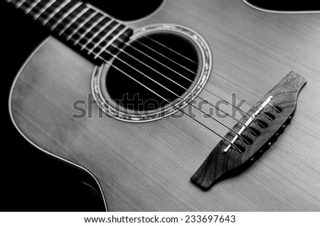 Electric-acoustic guitar - stock photo