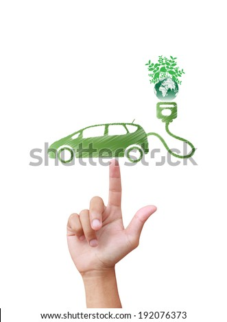 Electric car technology concept - stock photo