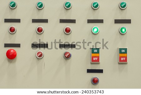 electric control - stock photo