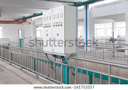 Electric control box - stock photo