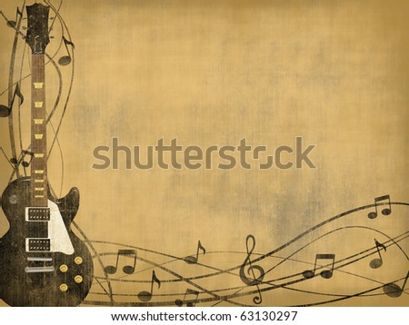 electric guitar background vertical - stock photo