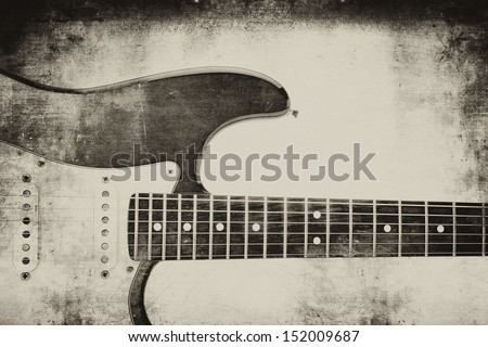 "Electric guitar backgrund ""grunge"" - stock photo"
