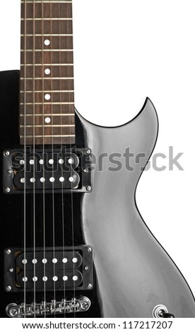 Electric guitar close-up - stock photo