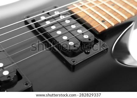 Electric guitar close up - stock photo