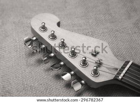 electric guitar head - stock photo