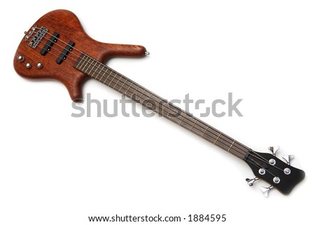 Electric guitar isolated over white - stock photo