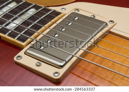 Electric Guitar Pickup - stock photo