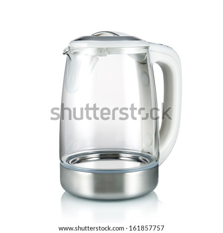 Electric kettle isolated on the white background - stock photo