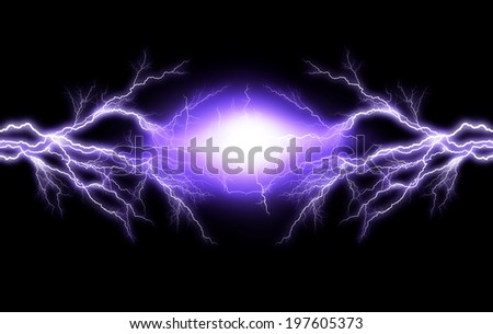 Electric lighting effect, abstract techno backgrounds - stock photo