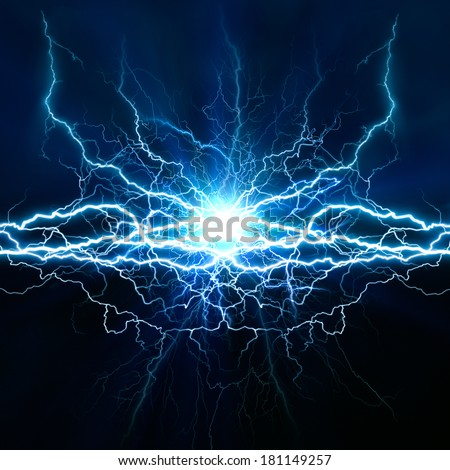 Electric lighting effect, abstract techno backgrounds for your design  - stock photo