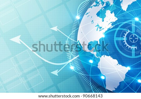 electric lines background design for technology themes - stock photo